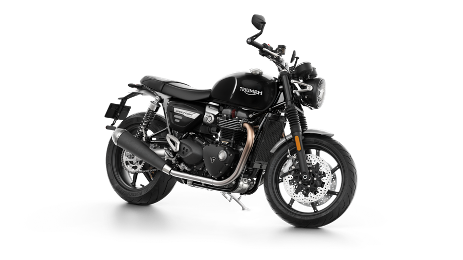 Speed Twin Front 3 4 Jet Black