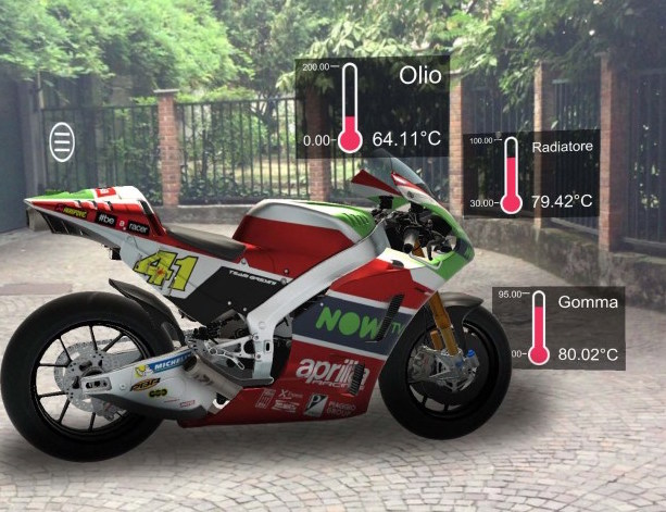 Aprilia Racing MotoGP augmented reality helmet 15