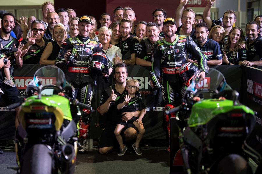 hi 13 Losail WorldSBK 2018 Friday Rea Sykes GB44198